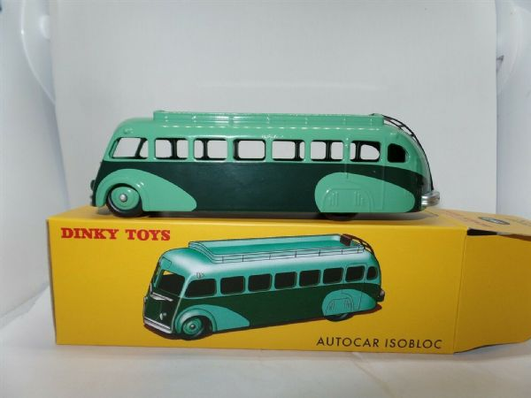Atlas French Dinky 29E Autocar Isobloc Bus Coach Green & Green